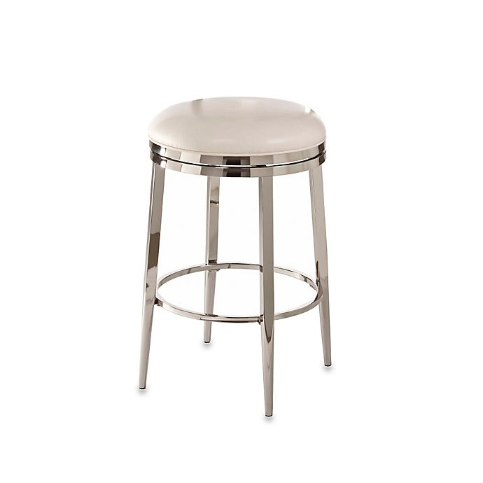 Groovy Ampersand Halton Swivel Backless Counter Stool In Ivory Gmtry Best Dining Table And Chair Ideas Images Gmtryco