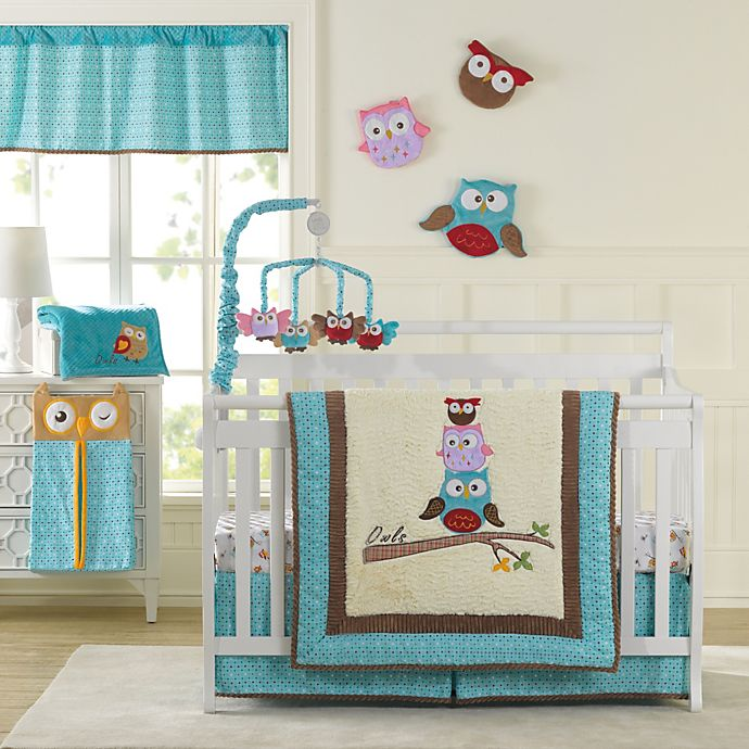 Laugh Giggle Smile Spotty Owls 10 Piece Crib Bedding Set Buybuy