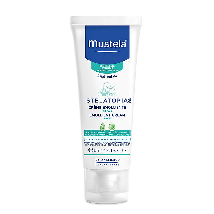 Alternate image 1 for Mustela® Stelatopia 1.35 fl. oz. Emollient Face Cream for Extremely Dry to Eczema-Prone Skin