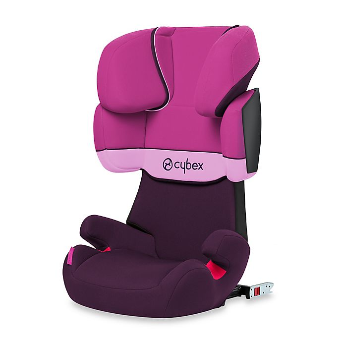 cybex silver solution x fix booster seat in purple rain buybuy baby. Black Bedroom Furniture Sets. Home Design Ideas