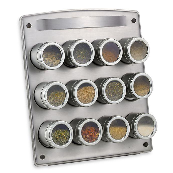 Alternate image 1 for Kamenstein® Magnetic 12-Jar Spice Rack with Easel