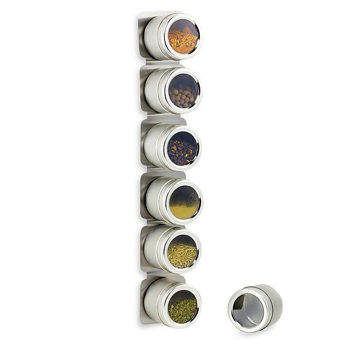 Alternate image 1 for Kamenstein® Magnetic 6-Jar Spice Rack