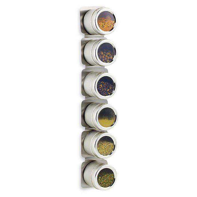 Kamenstein Magnetic 6 Jar E Rack