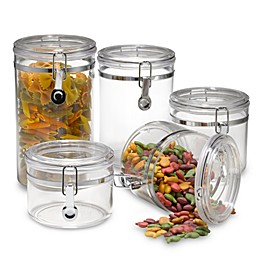 SALT™ Clear 5-Piece Canister Set