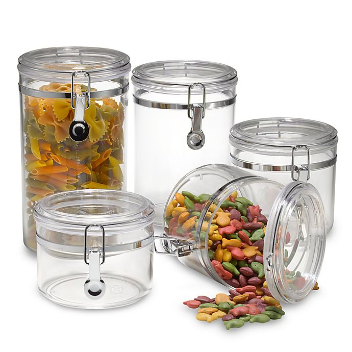 Alternate image 1 for SALT™ Clear 5-Piece Canister Set