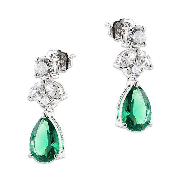 Cz By Kenneth Jay Lane Cubic Zirconia Marquise Pear Drop Earrings