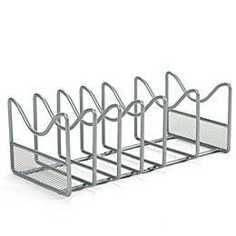 ORG Metal Pot and Lid Organizer in Silver