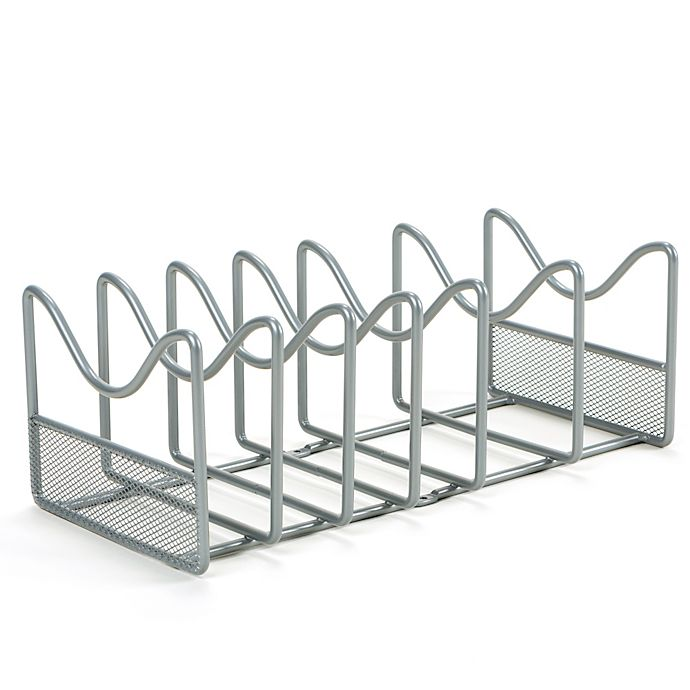 Alternate image 1 for ORG Metal Pot and Lid Organizer in Silver