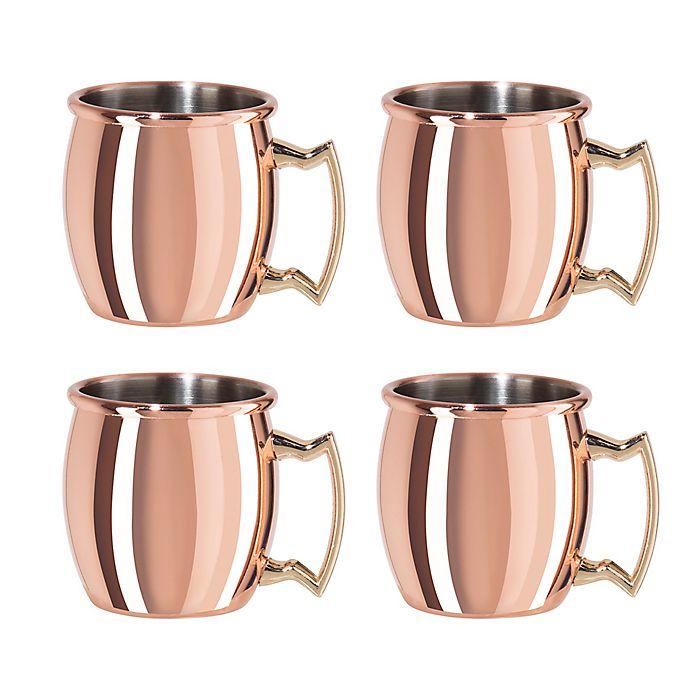 Alternate image 1 for Oggi™ Mini Moscow Mule Mug Shots (Set of 4)