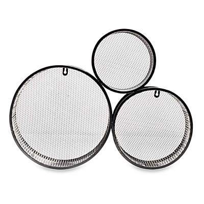 Elements Three Circle Wall Pocket in Silver