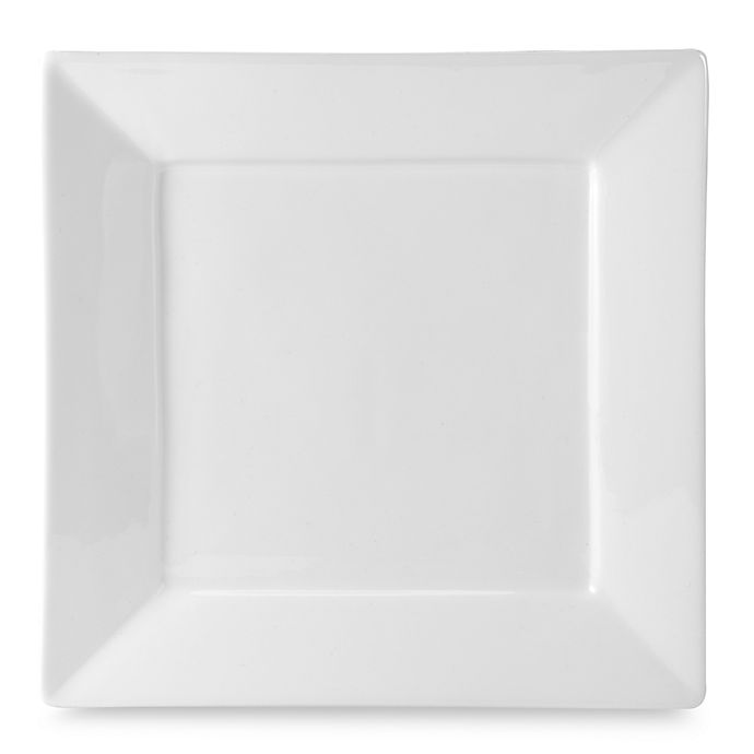 Alternate image 1 for Everyday White®  by Fitz and Floyd® Rim Square Dinner Plate