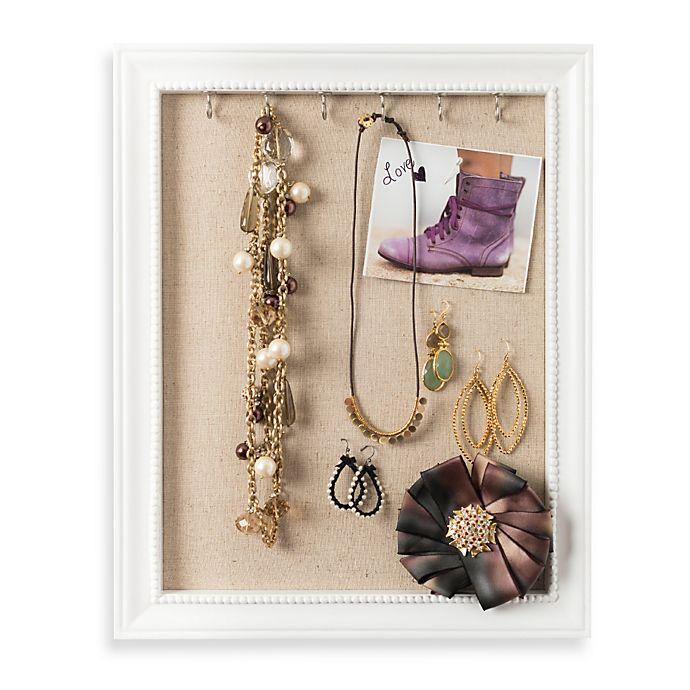 Alternate image 1 for Medium Jewelry Frame in White