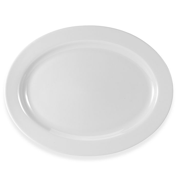 Alternate image 1 for Everyday White® by Fitz and Floyd® Rim 16-Inch Oval Platter