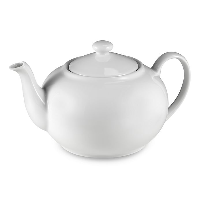 Alternate image 1 for Everyday White® by Fitz and Floyd® Teapot