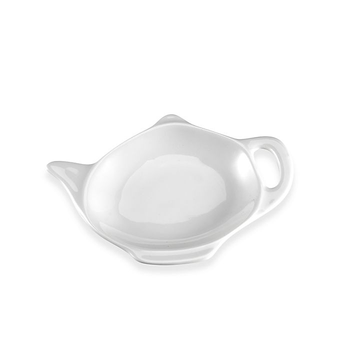Alternate image 1 for Everyday White® by Fitz and Floyd® Teapot Tea Bag Caddy