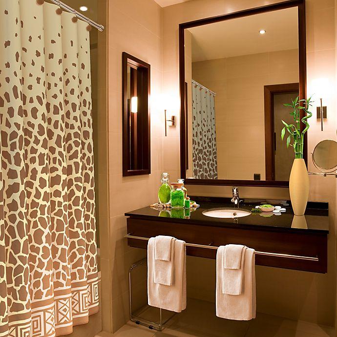 Alternate image 1 for Giraffe Print 70-Inch x 72-Inch Shower Curtain