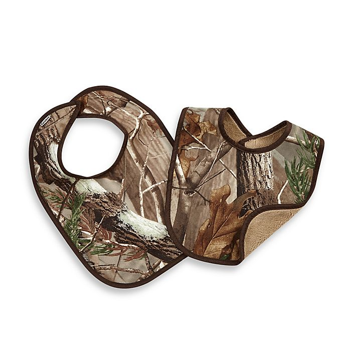 Alternate image 1 for Real Tree AP 2-Pack Baby Bibs in Camouflage