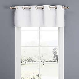 Newport Grommet Window Curtain Valance in White