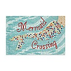 Frontporch Mermaid Crossing 1-Foot 8-Inch x 2-Foot 6-Inch Accent Rug