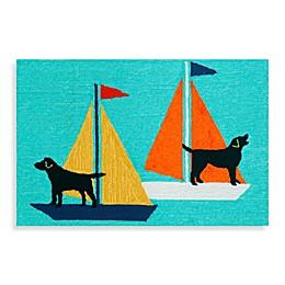 Trans-Ocean Frontporch Sailing Dogs Door Mat