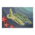 Trans-Ocean Frontporch Sea Turtle 20-Inch x 30-Inch Indoor/Outdoor Accent Rug