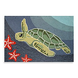 Trans-Ocean Frontporch Sea Turtle Indoor/Outdoor Accent Rug