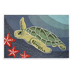 Trans-Ocean Frontporch Sea Turtle Indoor/Outdoor Accent Rug