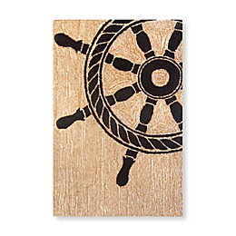 Trans-Ocean Frontporch Ship Wheel Accent Rug