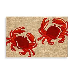 Trans-Ocean Frontporch Crabs Accent Rug