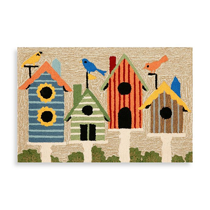 Alternate image 1 for 24-Inch x 36-Inch Indoor/Outdoor Birdhouses Accent Rug