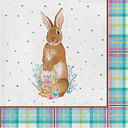Storybook Easter Bunny 16-Count Paper Lunch Napkins