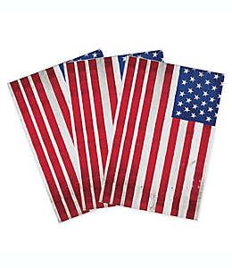 Toallas desechables de papel Woodgrain Flag, 32 piezas