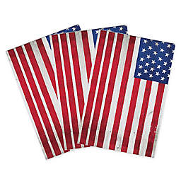 Woodgrain Flag 32-Count Paper Guest Towels