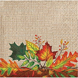 Special Occasions 36-Count Leaves of Fall Beverage Napkins