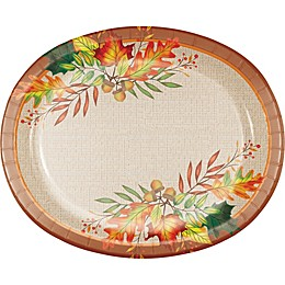 Special Occassions 10-Count Leaves of Fall Oval Platters