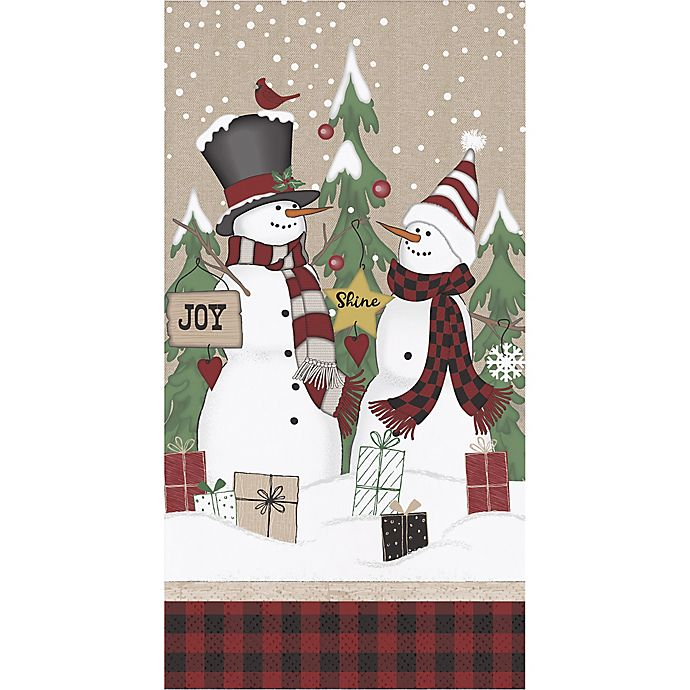Alternate image 1 for Winter Snow Friends 20-Pack Paper Guest Towels in Blue