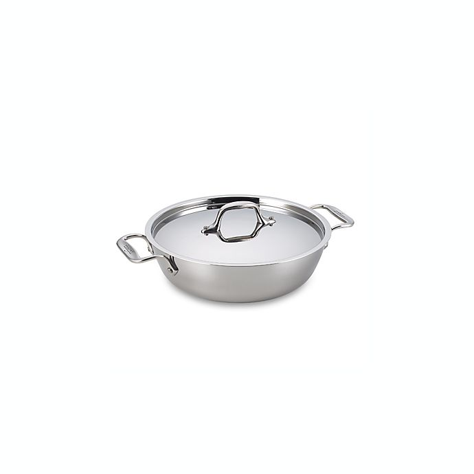 Alternate image 1 for All-Clad D3 3 qt. Stainless Steel Covered Cassoulet