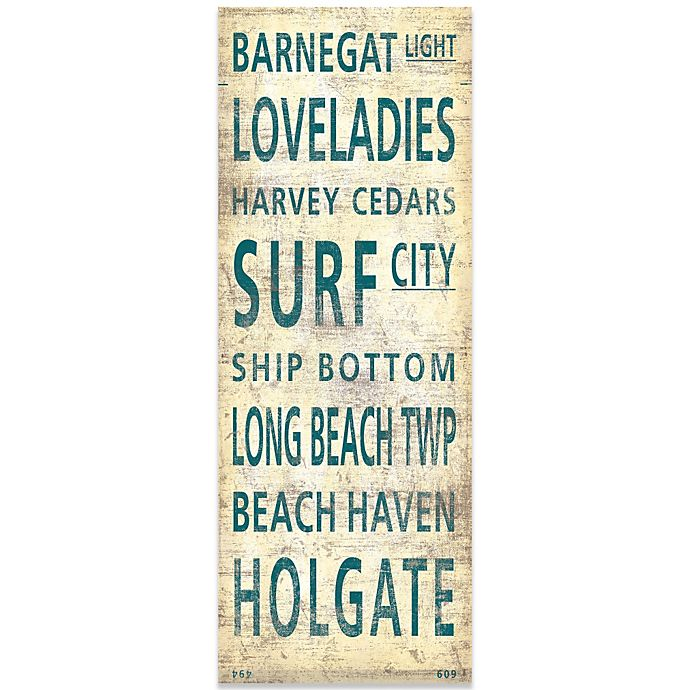 Alternate image 1 for Long Beach Island Places Canvas Art