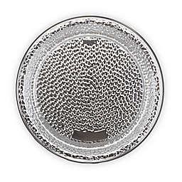 Elama Zen Mozaik Premium 16-Inch Round Hammered Serving Platter in Silver
