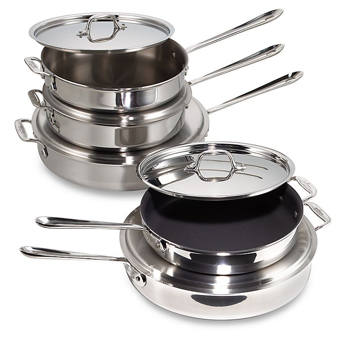 Alternate image 1 for All-Clad D3 Stainless Steel Saute Pans
