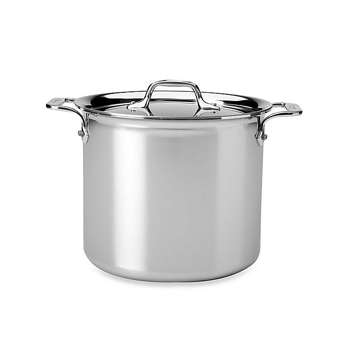 All Clad D3 Stainless Steel Covered Stock Pots Bed Bath Beyond