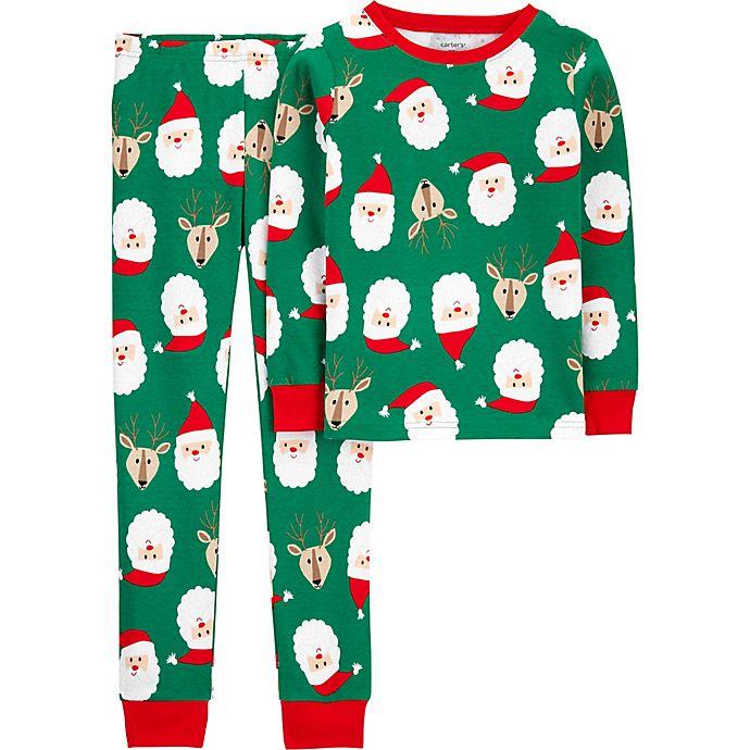 Alternate image 1 for carter's® Santa Pajama Collection