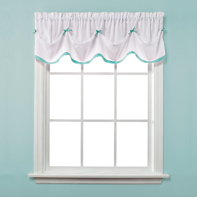 Alternate image 1 for Kayla Window Curtain Valance in Turquoise