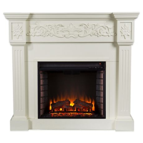 Southern Enterprises Calvert Electric Fireplace In Ivory