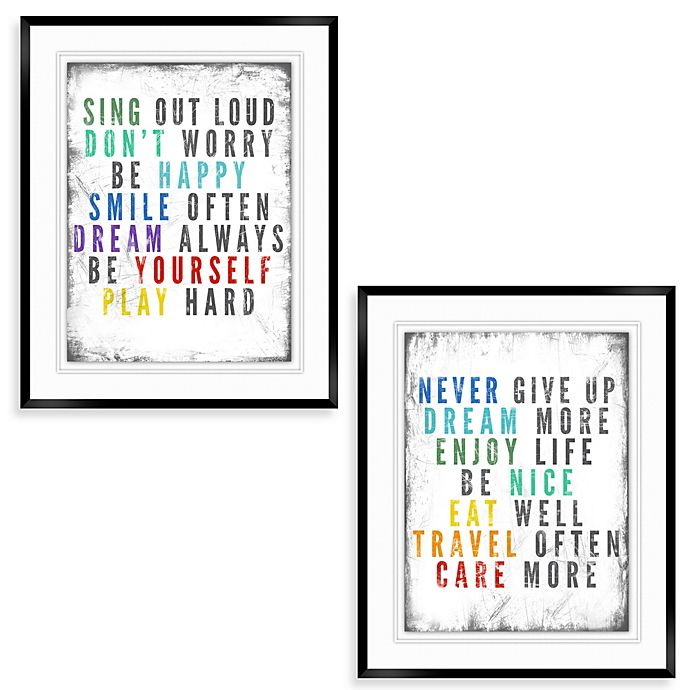 Colorful Quote Wall Décor