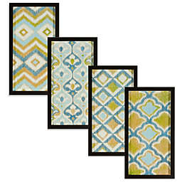 Blue/Green Ikat Shadowbox Wall Art