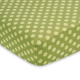 Sweet Jojo Designs Forest Friends Fitted Crib Sheet in Green Dot
