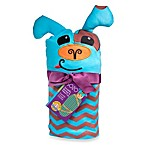 Sozo® Chevron Puppy Swaddle Blanket and Cap Set