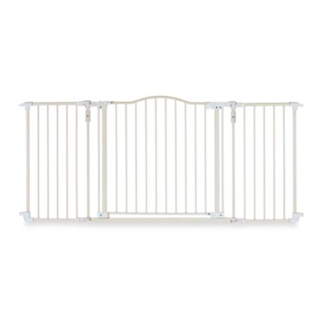 North States Deluxe Hardware Mount Gate In Linen Buybuy Baby