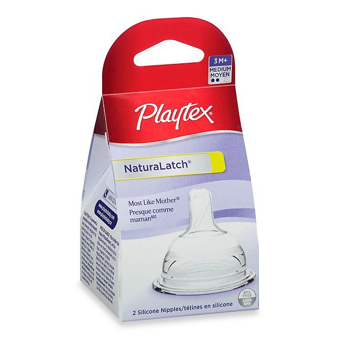 Alternate image 1 for Playtex® 2-Pack Medium Flow NaturaLatch® Nipples